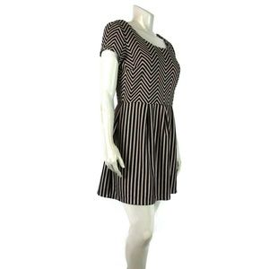 MAISON JULES XL Chevron Stripe Pleated Dress